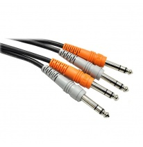 Hosa CSS-201 Dual 6.3mm TRS - Dual 6.3mm TRS Kabel 1m