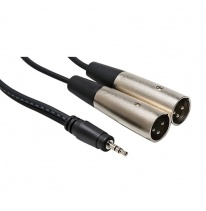 Hosa CYX-402M 3.5mm TRS - Dual XLR-Male Kabel 2m