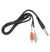 Hosa TRS-202 Dual RCA - 6.3mm TRS Kabel 2m