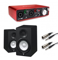 Yamaha HS5 (Pair) + Focusrite Scarlett 2i2 (2nd Generation) Bundle
