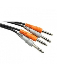 Hosa CSS-203 Dual 6.3mm TRS - Dual 6.3mm TRS Kabel 3m