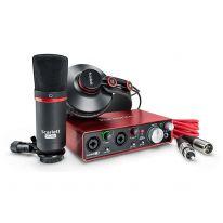 Focusrite Scarlett 2i2 Studio Pack 2nd Gen - USB Ljudkort, Mikrofon, Hörlurar, Kablar