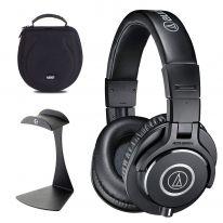 Audio Technica ATH-M40x + UDG Case + K&M Stand Bundle