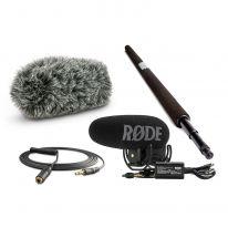 Rode VideoMic Pro Plus + Micro Boompole + Windshield + VC1 Bundle