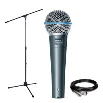 Shure Beta 58A + Stand + Cable Bundle