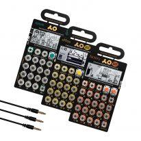 Teenage Engineering PO-16 + PO-35 + PO-24 + Sync Cables Bundle
