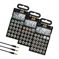 Teenage Engineering PO-32 + PO-33 + PO-35 + MC-3 Mini Sync Cables Bundle